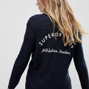 Superdry Ivy Patched Michigan Cardigan Sweater XS